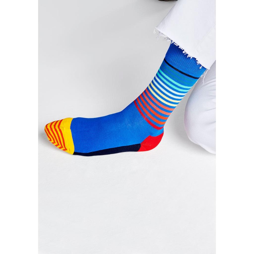 Happy Socks Socken »Half Stripe«, (1 Paar), in knalligen Farben