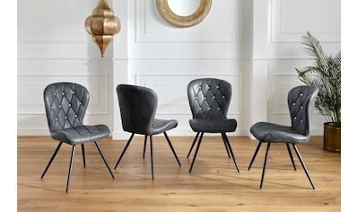 Duo Collection Esszimmerstuhl »Luana«, 4er-Set, elegante Rautensteppung kaufen