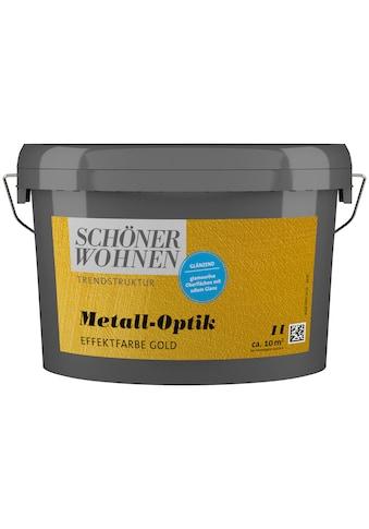 SCHÖNER WOHNEN-Kollektion Wandfarbe »Metall-Optik Effektfarbe gold«, glänzend 1 l kaufen