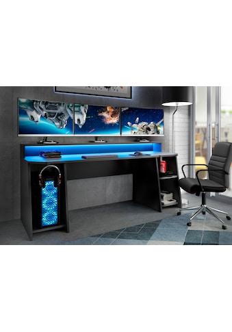 FORTE Gamingtisch »Tezaur«, mit RGB-Beleuchtung und Halterungen kaufen