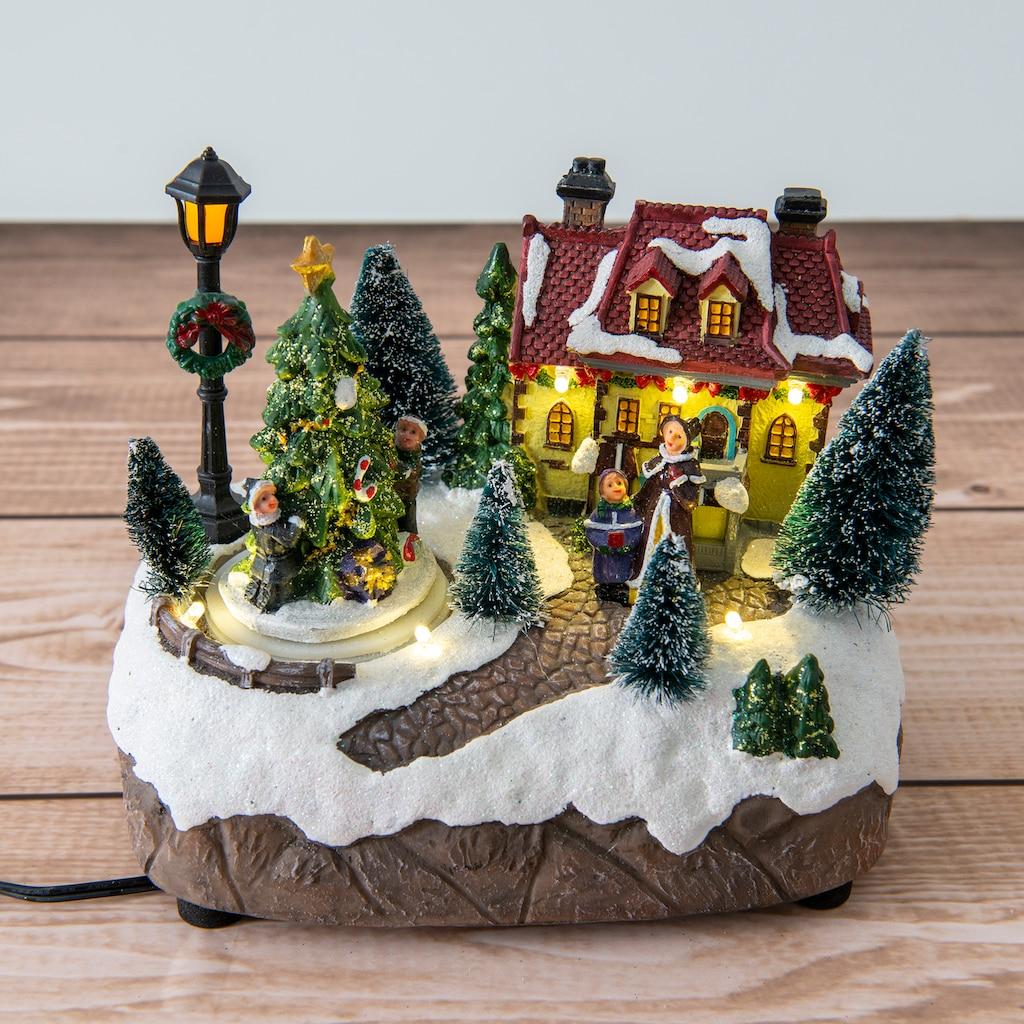 näve LED Dekolicht, Warmweiß, Schneelandschaft