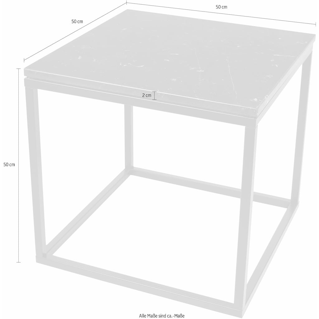 TemaHome Beistelltisch »Praise«, in unterschiedlichen Farben der Tischplatte und des Gestells erhältlich, Breite 50 cm