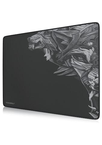 Titanwolf XL Gaming Mauspad mit 440 x 350mm »Mousepad mit Stoffoberfläche / Gummierte Rückseite« kaufen