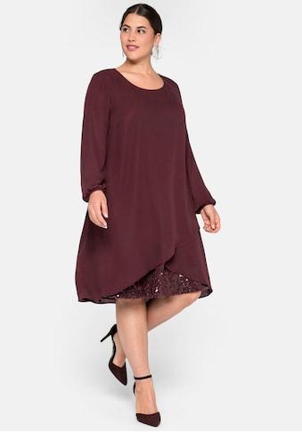 Sheego Abendkleid, mit Pailettenbesatz am Saum kaufen