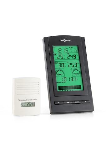 ONECONCEPT Wetterstation Alarm Batteriebetrieb 1 x Funk - Außensensor »Isfjorden« kaufen