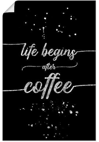 Artland Wandbild »Leben beginnt nach dem Kaffee« kaufen