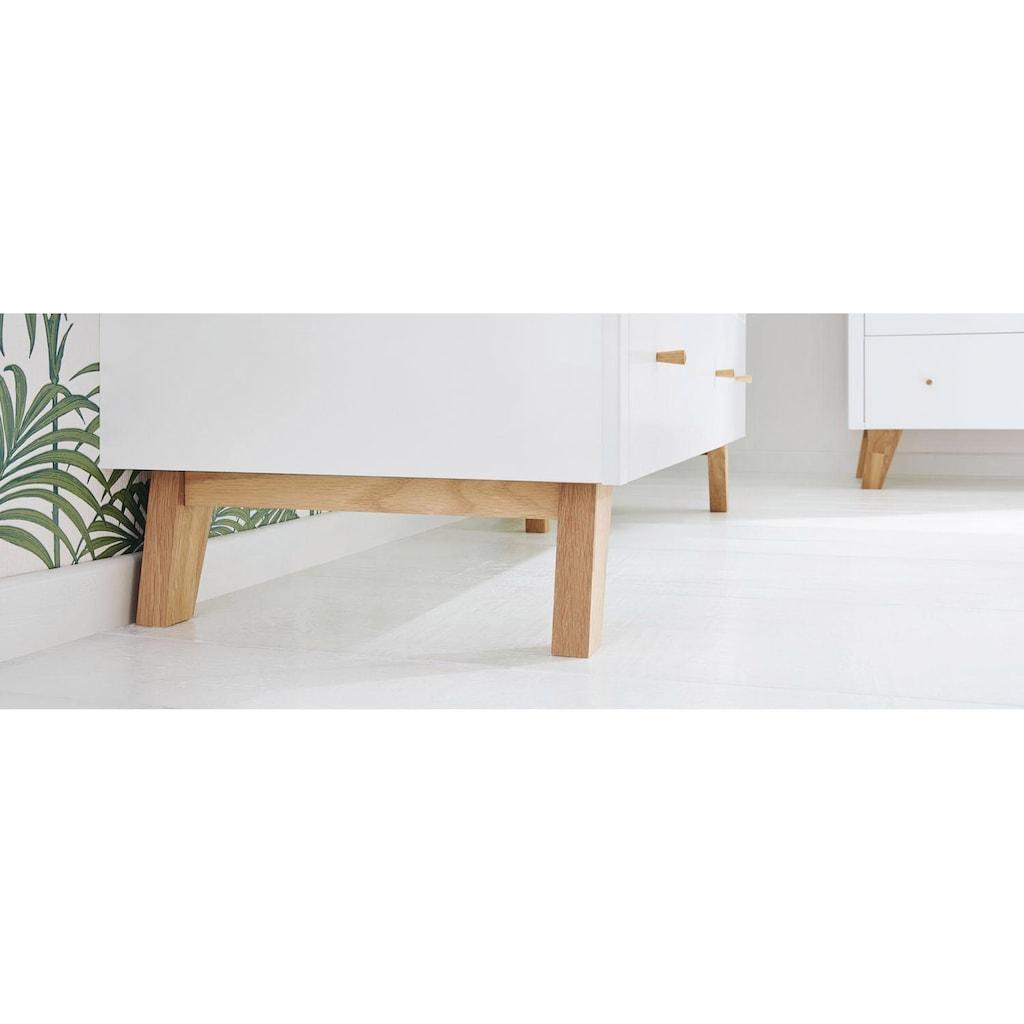 Pinolino® Babyzimmer-Komplettset »Pan«, (Set, 3 St.), breit groß; mit Kinderbett, Schrank und Wickelkommode; Made in Europe