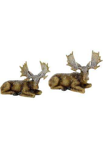 I.GE.A. Tierfigur »Elch liegend« (Set, 2 Stück) kaufen