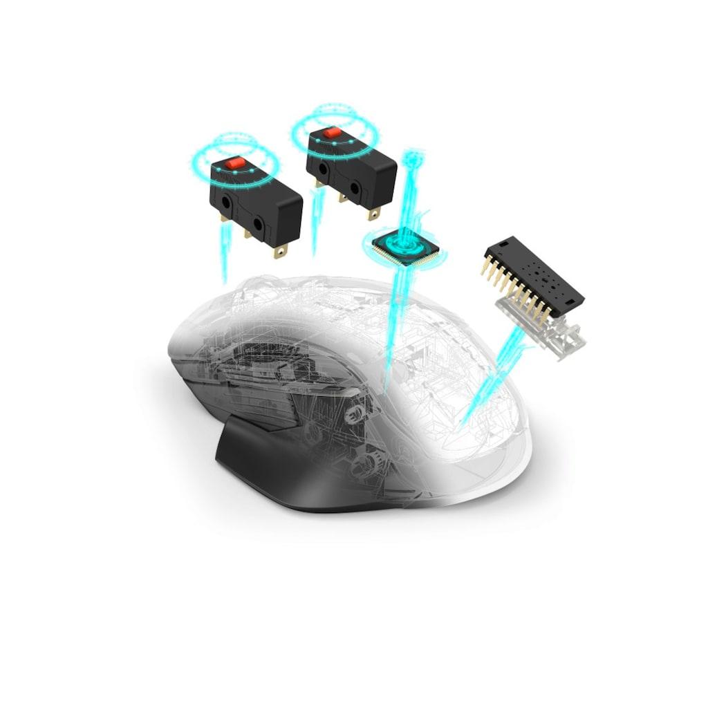 uRage Kabellose Gaming-Maus, Rechts-, Linkshänder, mit Gewichten