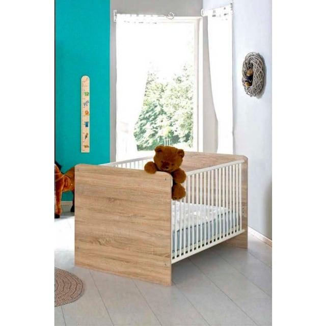 BMG Babyzimmer-Komplettset »Maxim«, (Set, 4 St.), Bett + Wickelkommode + 4-trg. Schrank + Standregal