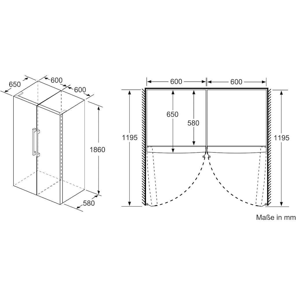 BOSCH Gefrierschrank »GSN36BIFV«, 6, 186 cm hoch, 60 cm breit