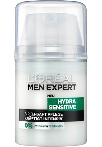 L'ORÉAL PARIS MEN EXPERT Feuchtigkeitscreme »Hydra Sensitive Birkensaft«, für empfindliche, trockene & sensible Männerhaut kaufen