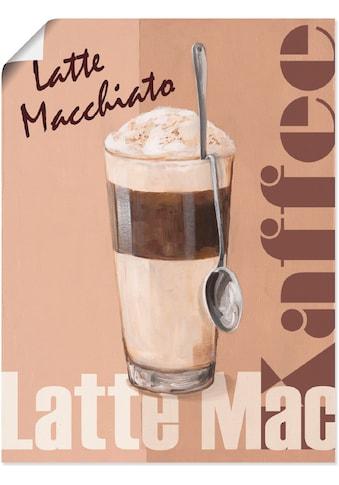 Artland Wandbild »Latte Macchiato - Kaffee«, Getränke, (1 St.), in vielen Größen &... kaufen