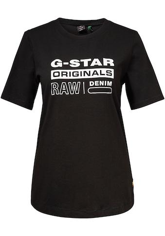 G-Star RAW T-Shirt »Originals label regular«, mit Frontdruck kaufen