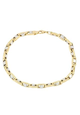 Firetti Goldarmband »Stegankerkettengliederung, 4,3 mm breit, glänzend, teilw. rhodiniert, bicolor« kaufen