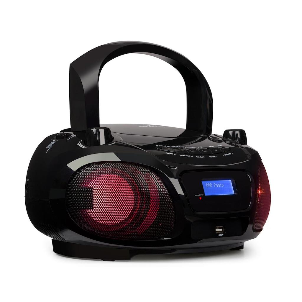 Auna CD-Player DAB/DAB+ UKW LED Disco Light Effect Bluotooth