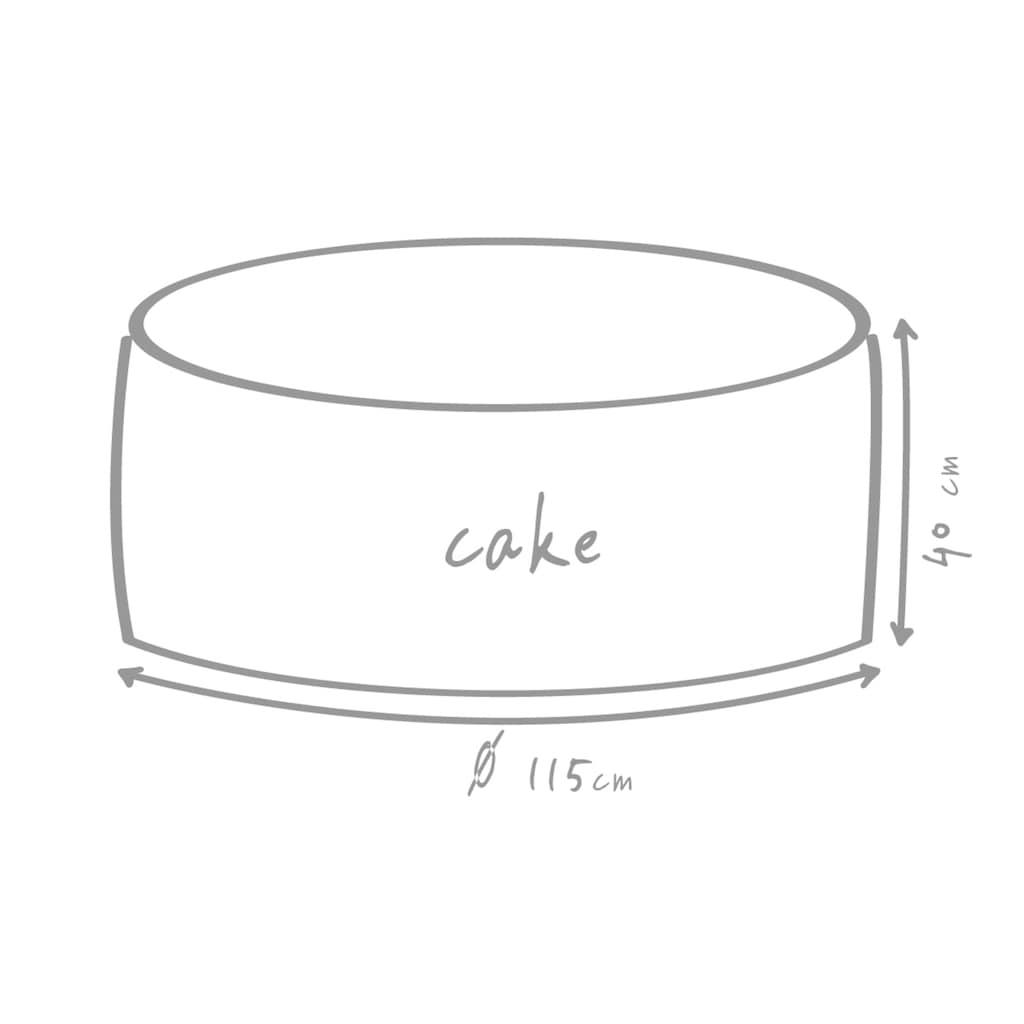 OUTBAG Sitzsack »Cake Plus«, wetterfest, für den Außenbereich, Ø: 115 cm
