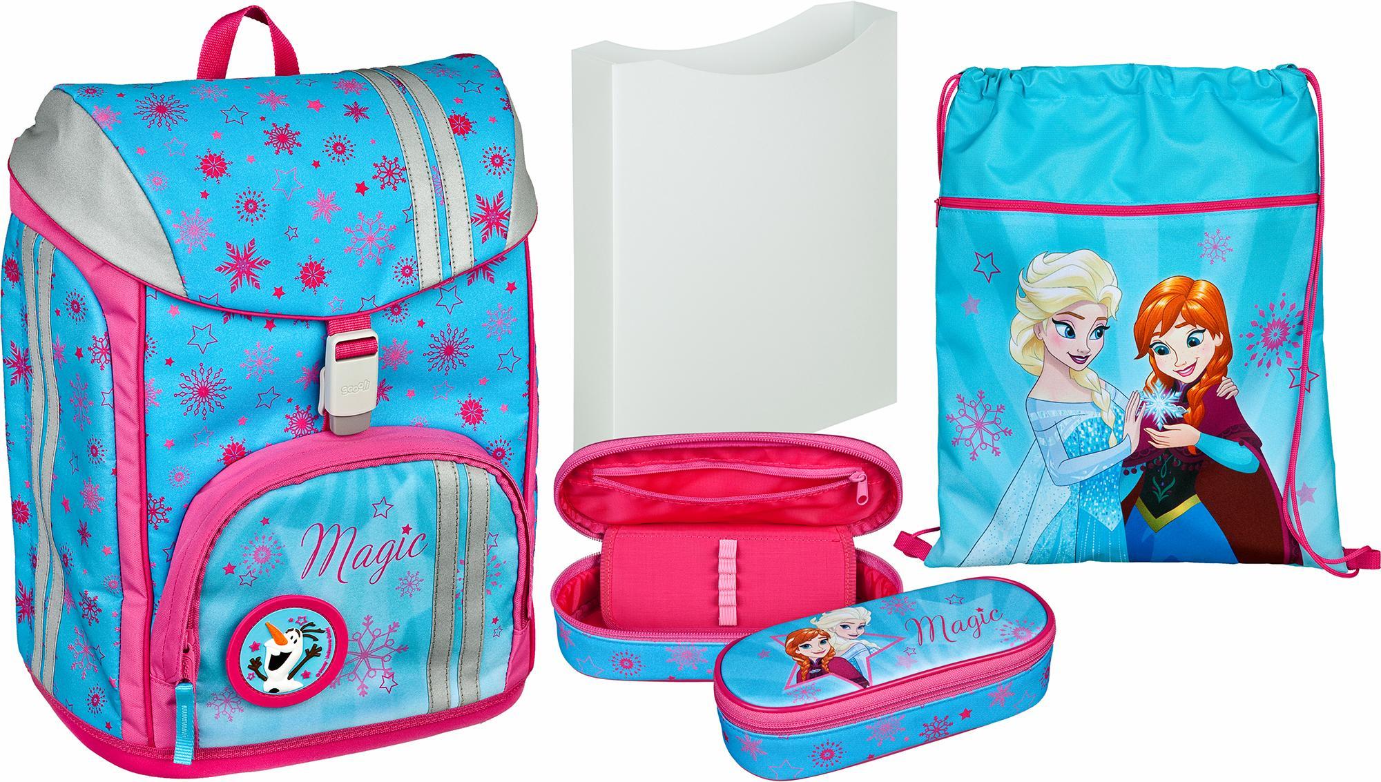 Scooli Schulrucksack Set 5-tlg., »FlexMax Frozen« | Taschen > Rucksäcke > Sonstige Rucksäcke | Blau | SCOOLI