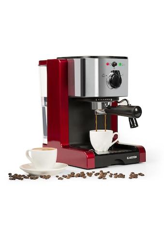 Klarstein Espressomaschine Capuccino Milchsaufschäumer Siebträgermaschine »Passionata 20« kaufen