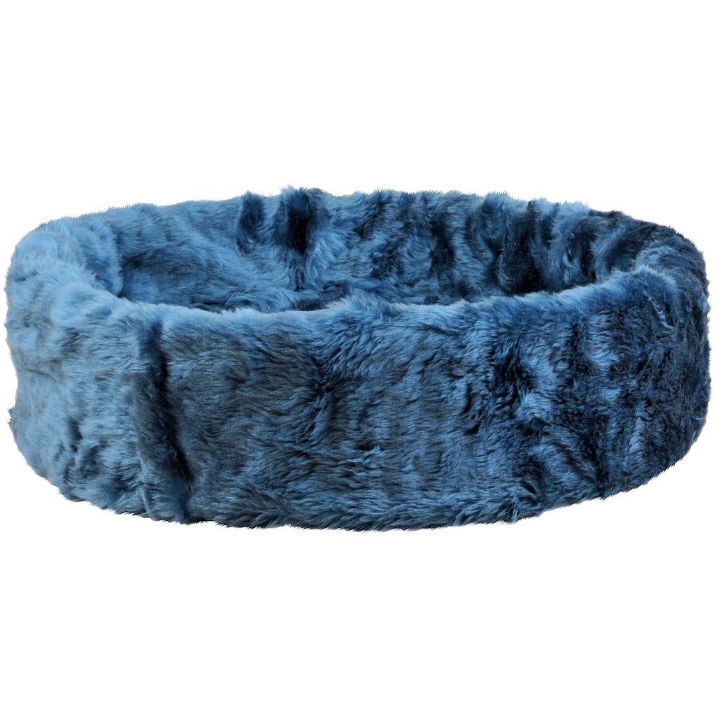 SILVIO design Tierbett »Ruhe- und Schlafinsel«, BxLxH: 50x50x12 cm, blau