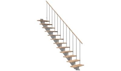 DOLLE Mittelholmtreppe »Hamburg Eiche 85«, bis 322 cm, Metallgeländer, versch. Ausführungen kaufen