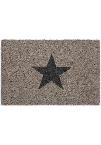 Andiamo Fußmatte »Kokos Star«, rechteckig, 15 mm Höhe, Fussabstreifer, Fussabtreter, Schmutzfangläufer, Schmutzfangmatte, Schmutzfangteppich, Schmutzmatte, Türmatte, Türvorleger, In- und Outdoor geeignet kaufen