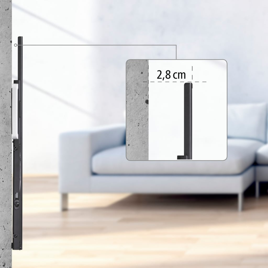"""Hama TV Wandhalter TILT neigbar, von 117 (46"""") bis 229cm (90"""