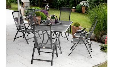 MERXX Gartenmöbelset »Delphi«, (7 tlg.), 6 Klappsessel mit ausziehbarem Tisch kaufen
