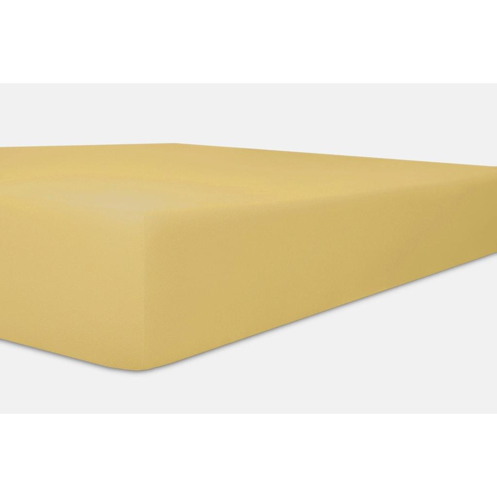 Kneer Spannbettlaken »Easy-Stretch«, aus weichem Jersey mit Elasthan