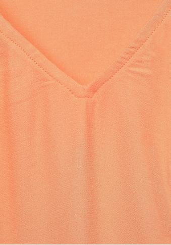 STREET ONE Langarmshirt, mit kleinen Falten am V-Ausschnitt kaufen