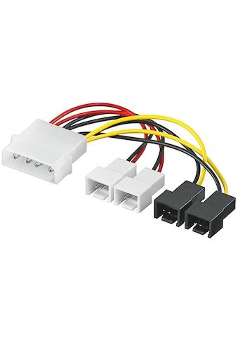 Goobay PC Lüfter Stromkabel/Stromadapter »5.25 Stecker zu Lüfter 2x 12 V/2x 5 V« kaufen