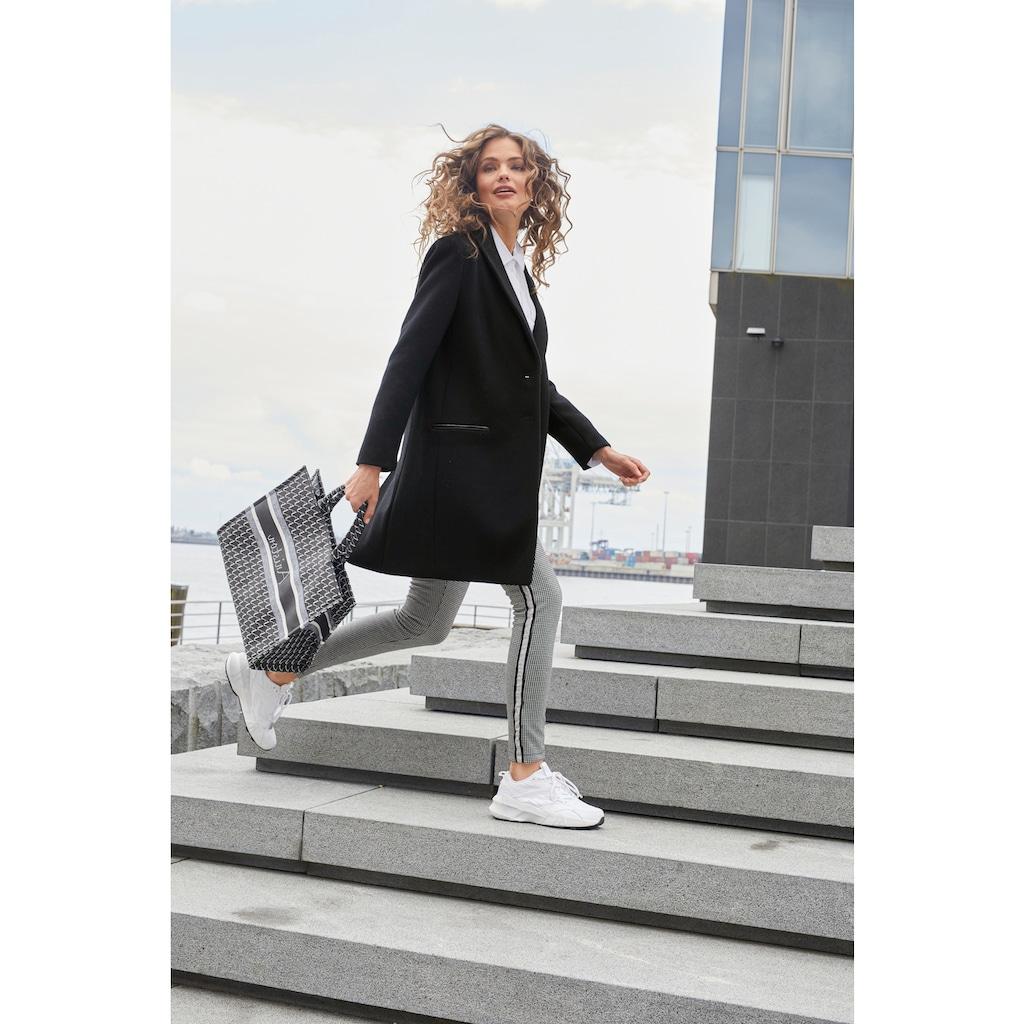 Aniston CASUAL Schlupfhose, mit glitzernden Galonstreifen