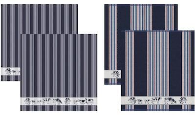 DDDDD Geschirrtuch »Friesian«, (Set, 4 tlg.), Combiset: 2 Küchentücher & 2 Geschirrtücher kaufen