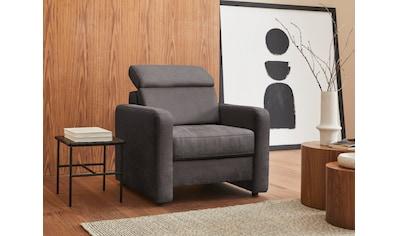 sit&more Sessel »Bologna«, mit Federkern, inklusive Kopfteilverstellung kaufen