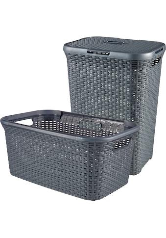 Curver Wäschekorb »Style«, Wäschebox (60L) und Wäschekorb (45L) kaufen