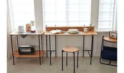 my home Schreibtisch »Knur«, Arbeitsplatte Akazie Dekor, gut geeignet für das Home office, Laptoptisch kaufen