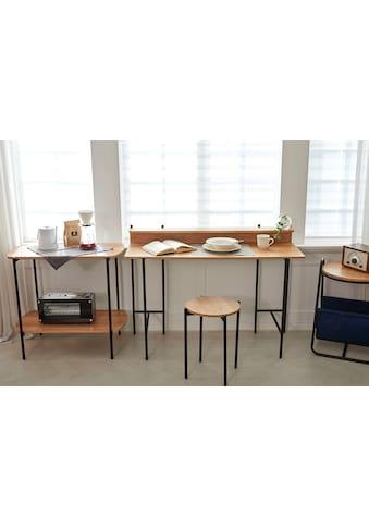 my home Schreibtisch »Knur«, Arbeitsplatte Akazie Dekor, gut geeignet für das Home... kaufen
