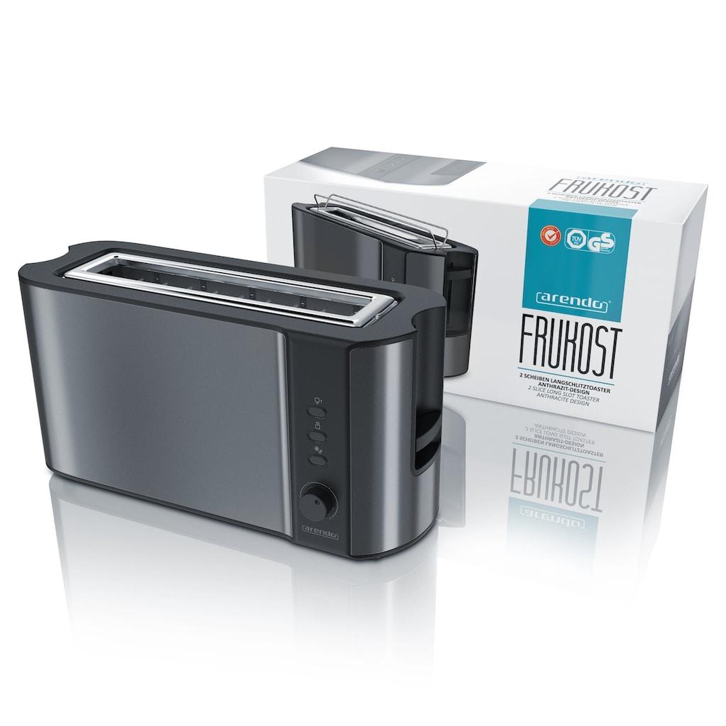 Arendo Automatik 2 Scheiben Langschlitz Toaster in Cool Grey »Frukost Grey«