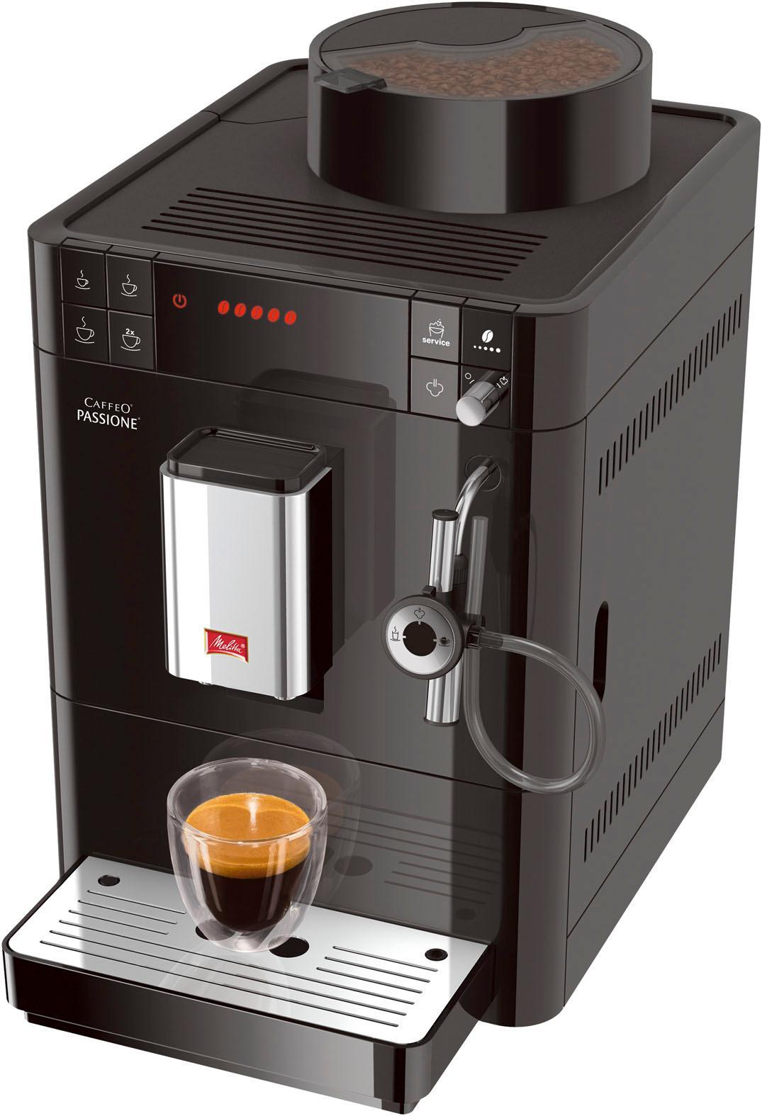 Melitta Kaffeevollautomat Passione F53/0-102 schwarz, 1, 2l Tank, Kegelmahlwerk   Küche und Esszimmer > Kaffee und Tee > Kaffeevollautomaten   Schwarz   Melitta