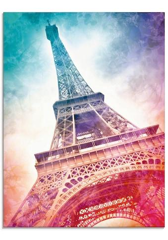 Artland Glasbild »Paris Eiffelturm II«, Gebäude, (1 St.) kaufen