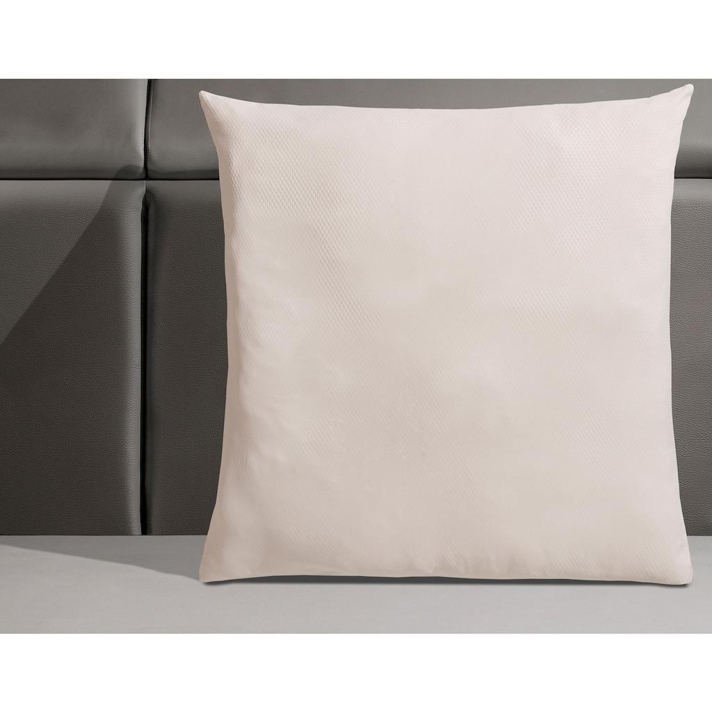 RIBECO Microfaserkissen »Seersucker Jana taupe«, Füllung: Polyester, Bezug: Polyester, (1 St.), besonders weicher Bezug