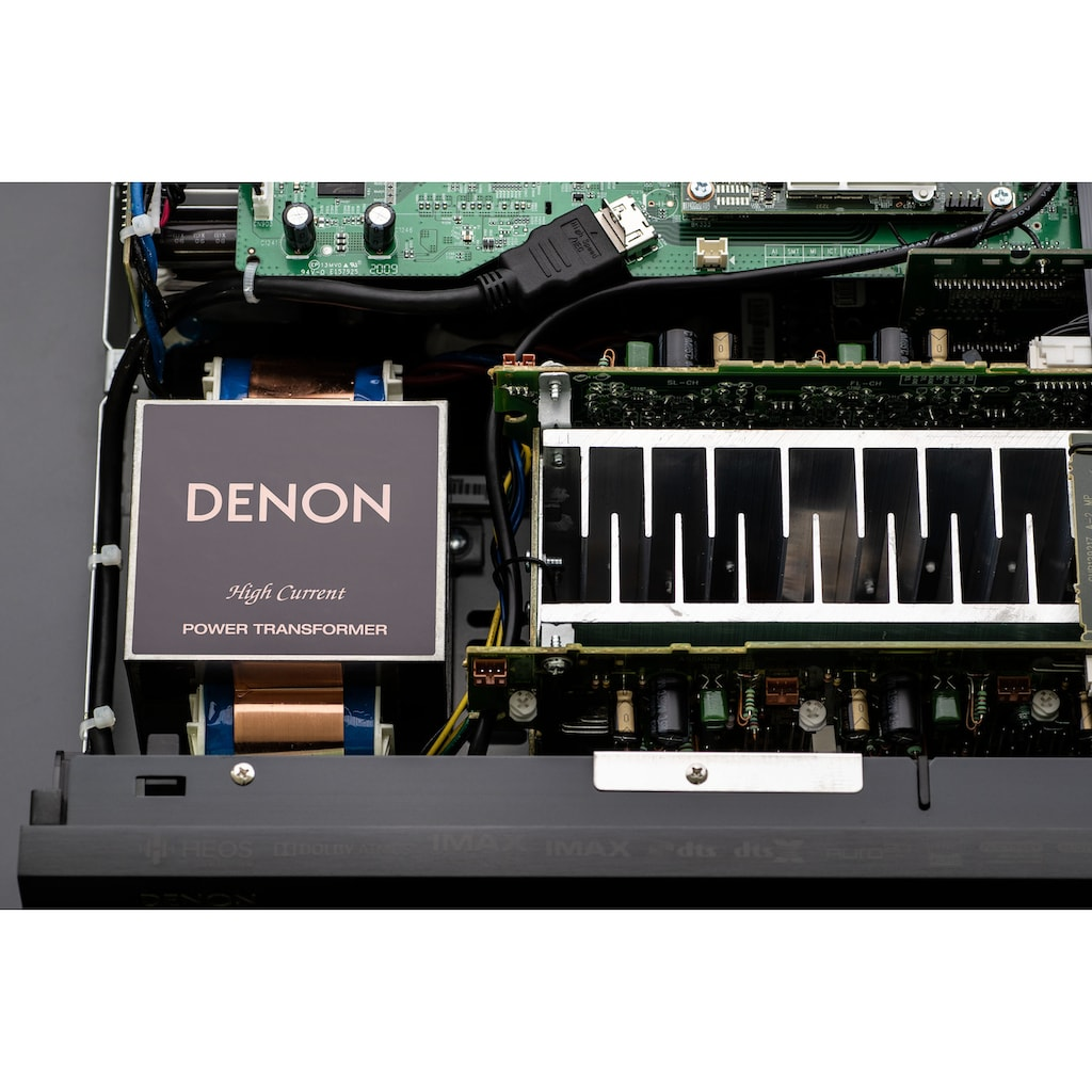 Denon AV-Receiver »AVCX4700 -9-Kanal«, 9, (LAN (Ethernet)-WLAN-Bluetooth automatische Lautsprecherkalibrierung-USB-Mediaplayer-Video Upscaling-Sprachsteuerung), kabellose Multiroom-Musikstreaming-Technologie HEOS Built-in