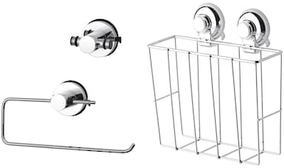 Küchenhelfer - Set »HOOKIE System® 3 - teilig«, mit Doppelhaken, Allzweckkorb und Küchenrollenhalter kaufen