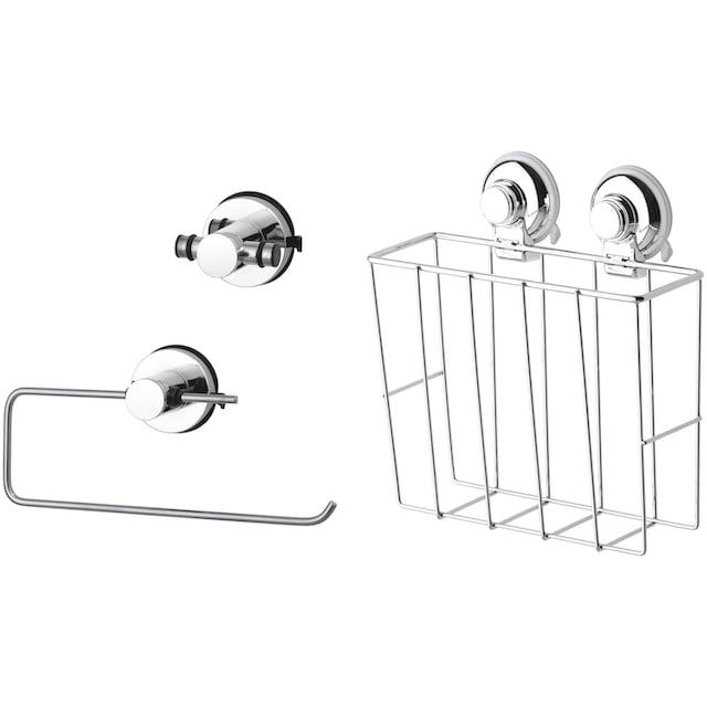 Küchenhelfer-Set »HOOKIE System® 3-teilig«, mit Doppelhaken, Allzweckkorb und Küchenrollenhalter