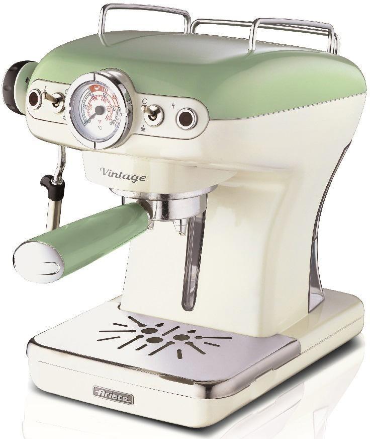 ariete espressomaschine 1389 vintage gr n wei auf. Black Bedroom Furniture Sets. Home Design Ideas