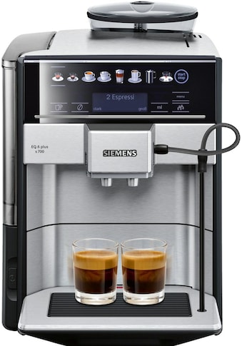 SIEMENS Kaffeevollautomat EQ.6 plus s700 TE657503DE, 1,7l Tank, Scheibenmahlwerk kaufen
