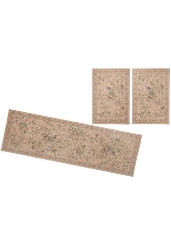 THEKO Bettumrandung »Flomi Sagrini«, Bettvorleger, Läufer-Set für das Schlafzimmer, Flachgewebe, gewebt, Pastell-Farben, florales Design kaufen