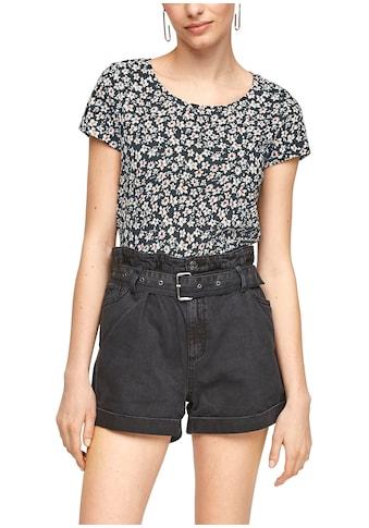 Q/S by s.Oliver T-Shirt, mit floralem Alloverprint kaufen