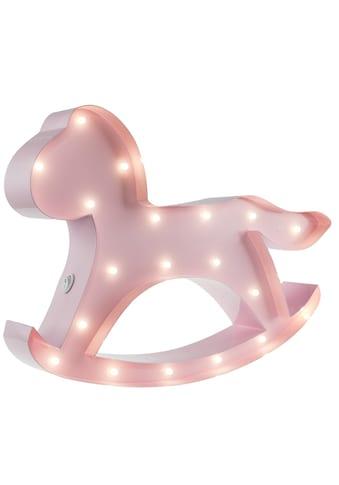 MARQUEE LIGHTS LED Dekolicht »Schaukelpferd«, 1 St., Warmweiß, Wandlampe, Tischlampe Hobbyhorse mit 19 festverbauten LEDs - 31cm Breit und 22cm hoch kaufen