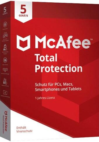 McAfee Virensoftware »McAfee Total Protection 5 Geräte - 1 Jahr« kaufen